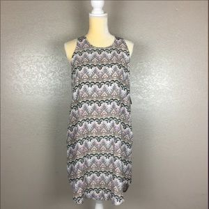 Pink Republic Shirt Tail BoHo Print Trapeze Dress